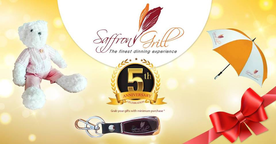 5TH Anniversary Saffron Grill Restaurant