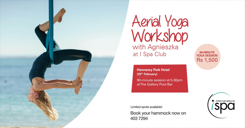 Aerial Yoga Workshop at Hennessy