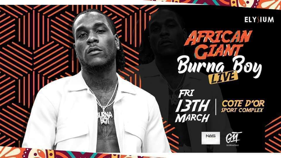 African Giant Burna Boy Live in Mauritius Island