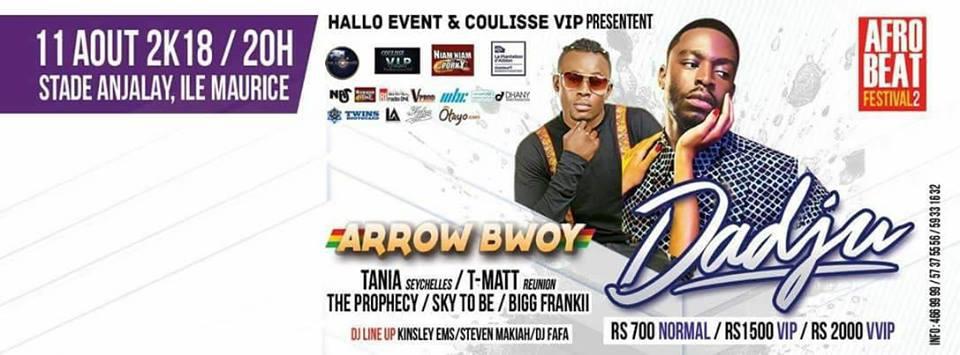 AfroBeat Festival 2 || Dadju || Arrow Bwoy