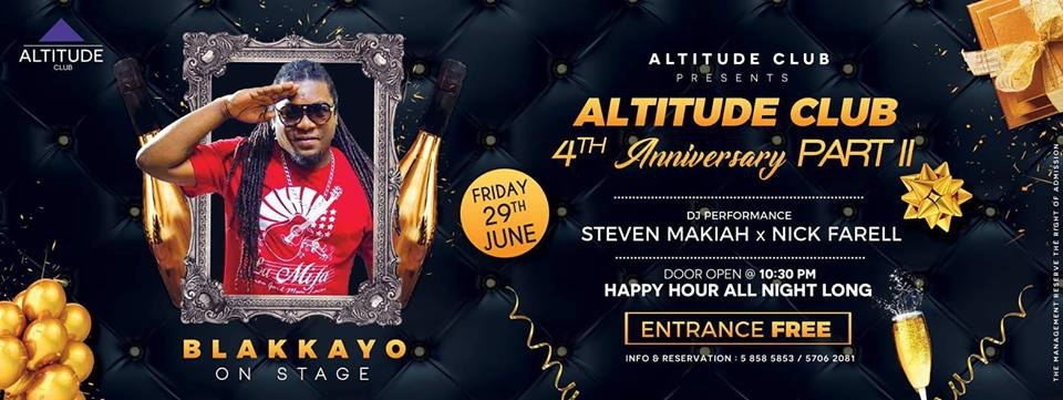 ALTITUDE CLUB 4TH ANNIVERSARY - PART II BLAKKAYO