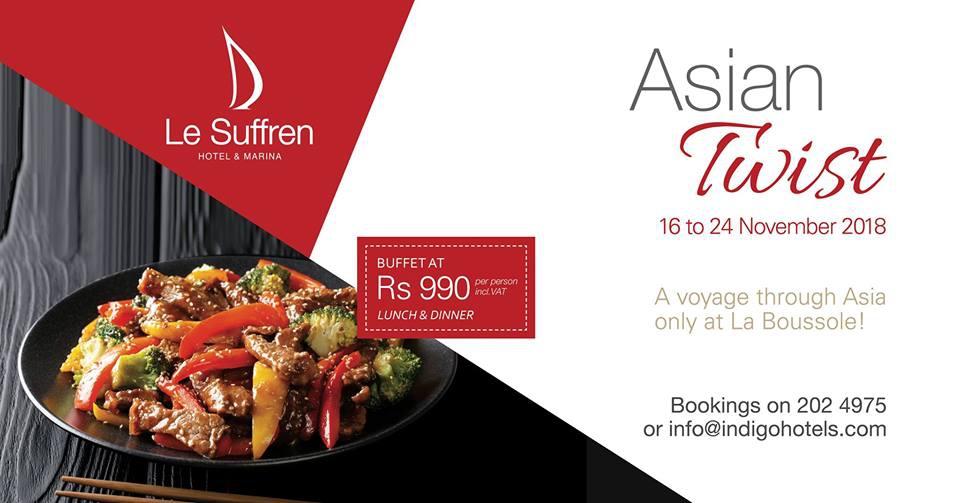 Asian Twist at Le Suffren Hotel & Marina