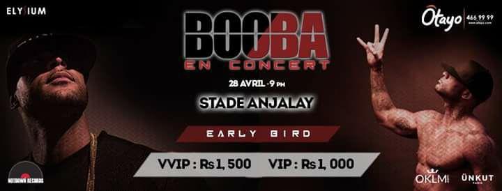 Booba En Concert Au Stade Anjalay - Samedi 28 Avril