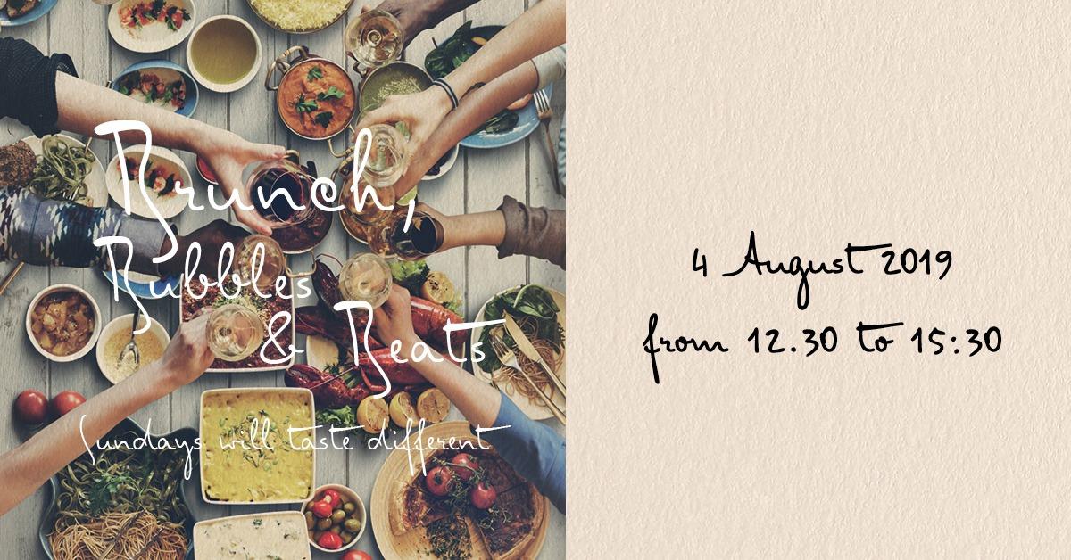 Brunch, Bubbles & Beats - 4 August 2019