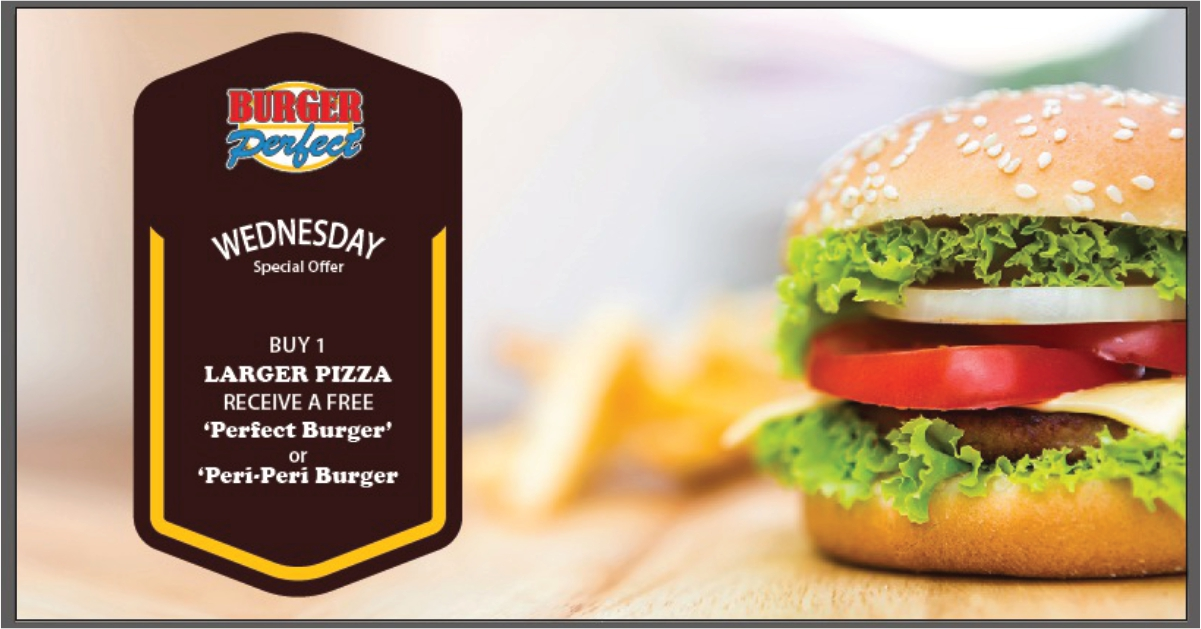 Wednesday Offer at Pizza & Burger Perfect Mauritius