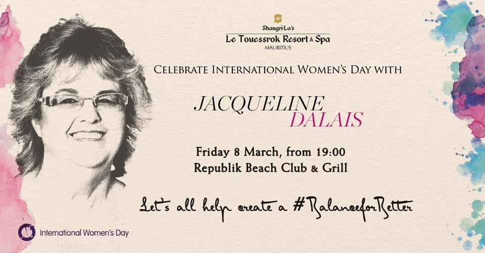 Celebrate Women's Day with Jacqueline Dalais