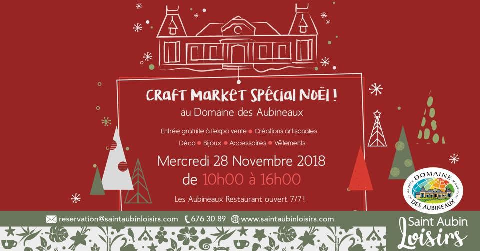 Christmas Market at Domaine des Aubineaux Wednesday 28 Nov