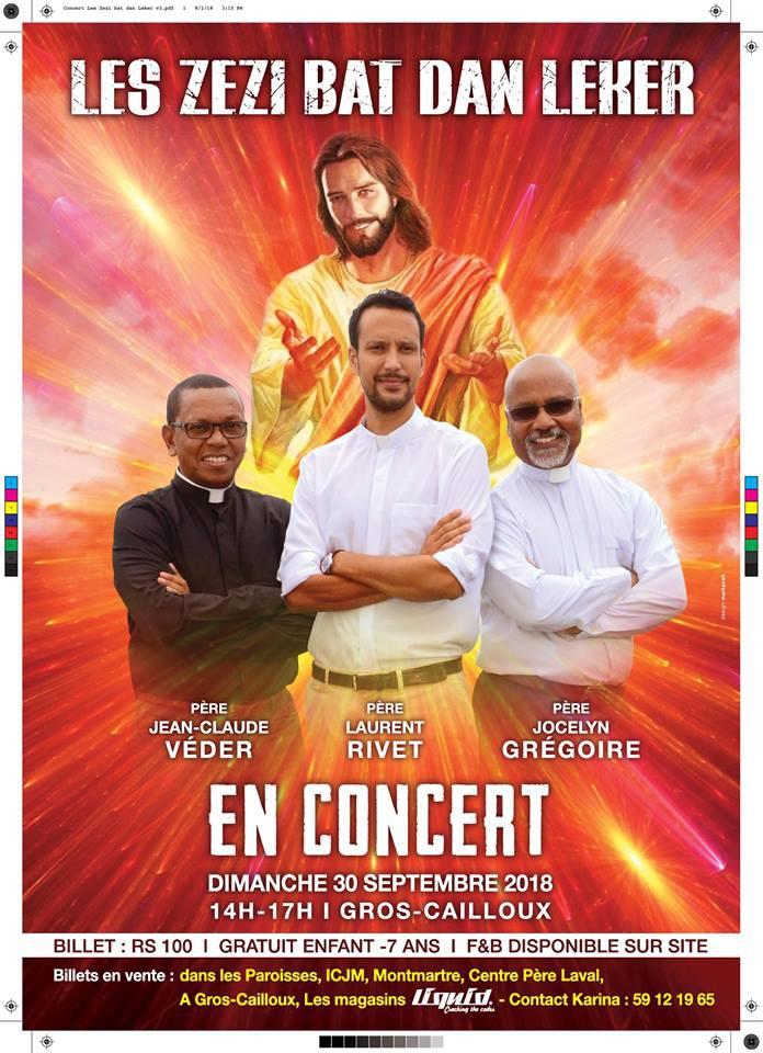Concert Spirituel Les Zezi Bat dan Leker Peres Laurent Rivet, Jean Claude Veder, Jocelyn Gregoire