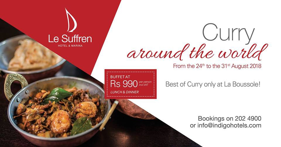 Curry around the world at Le Boussole Restaurant at Le Suffren Hotel & Marina