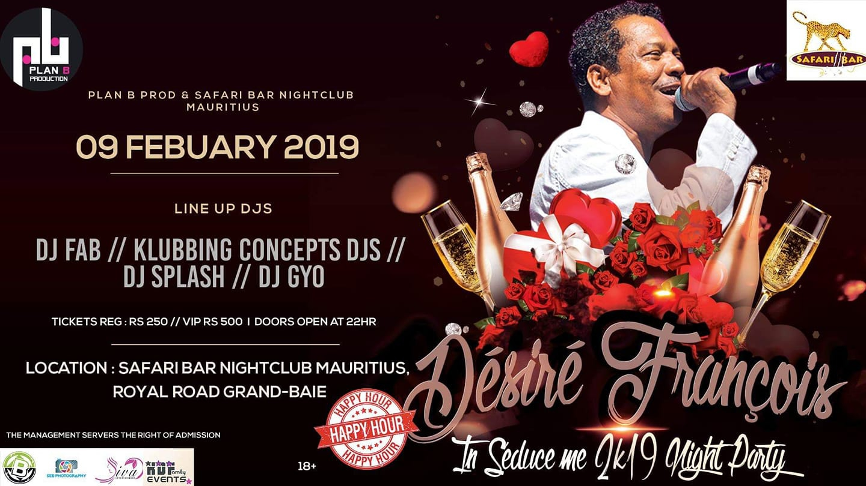 Désiré François In Seduce Me 2k19 Night Party