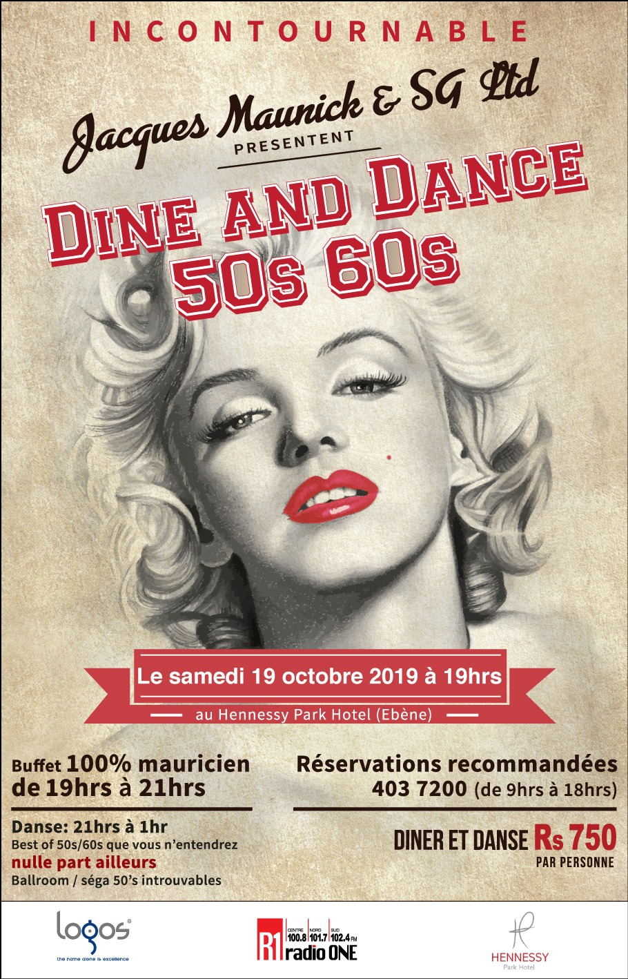 Dine and Dance - 50's 60's at Backstage