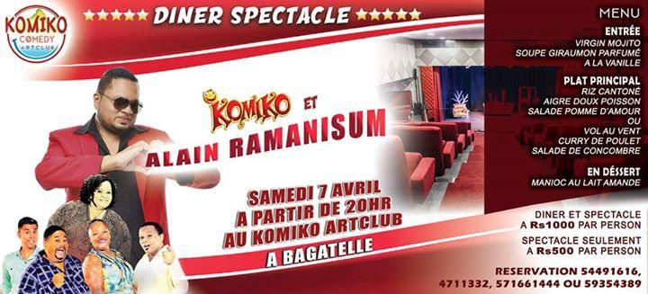 Diner Spectacle avec Alain Ramanisum et Komiko