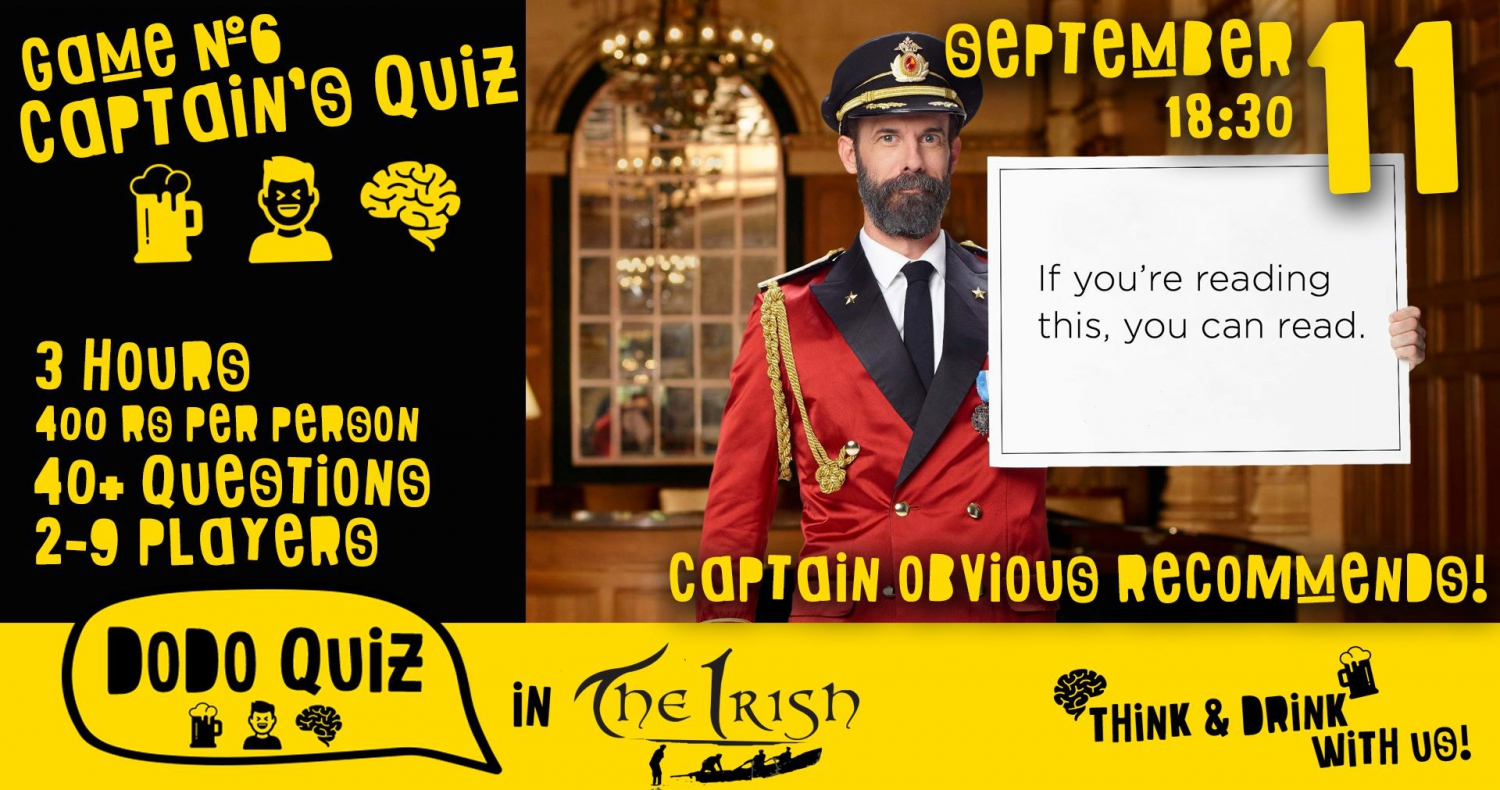 Dodo Quiz in the Irish 11 Sep