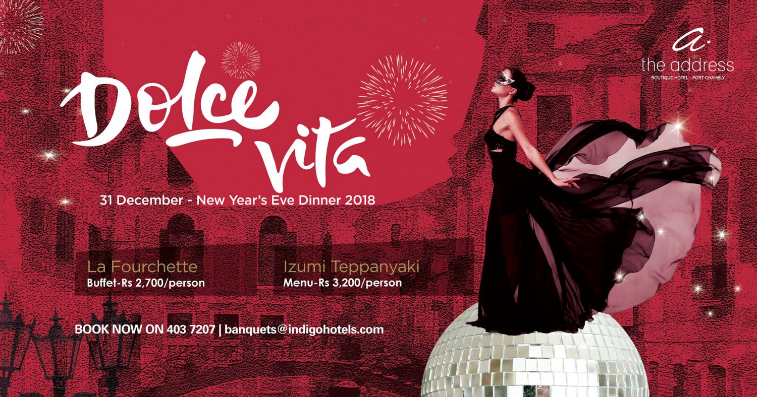 Dolce Vita for NYE at The Address Boutique Hotel