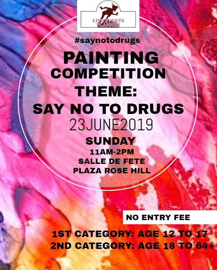 Drawing Competition Say No to Drugs