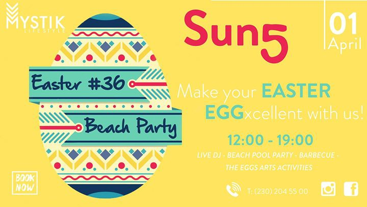 Easter SUN5 - Beach Pool Party