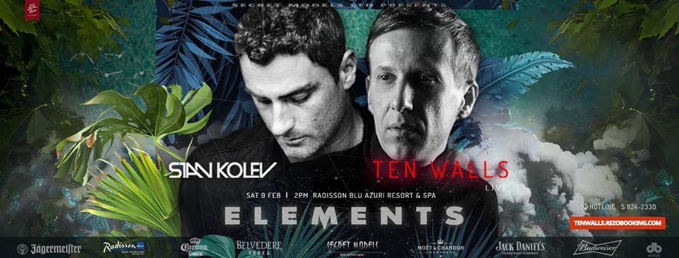 Elements : TEN WALLS (Live) + STAN KOLEV at Radisson Blu Azuri