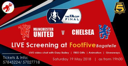 FA Cup Final: Live Screening at Foot5 - Bagatelle