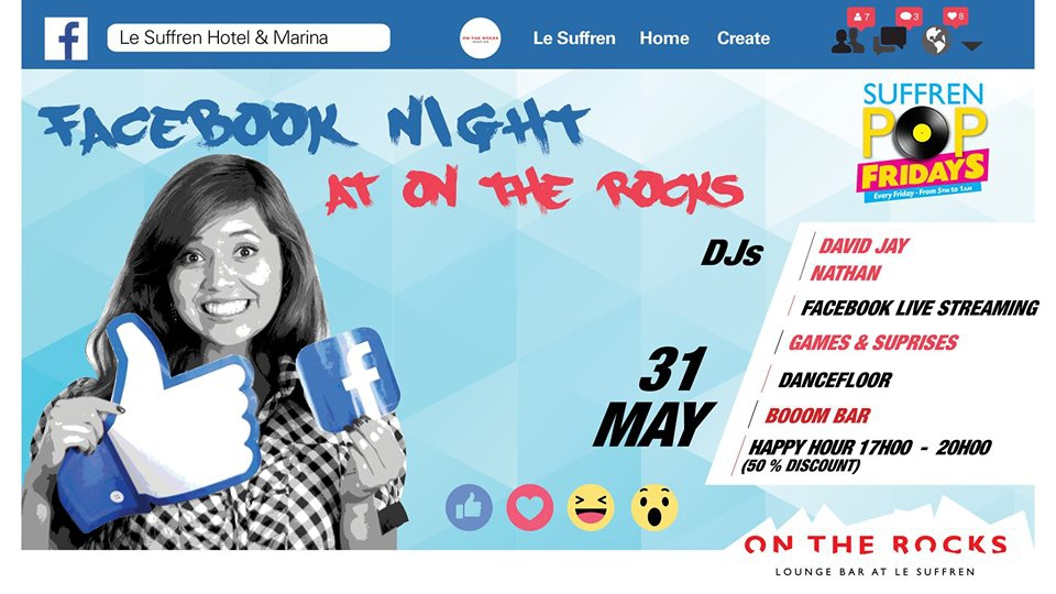 Facebook night at On The Rocks!