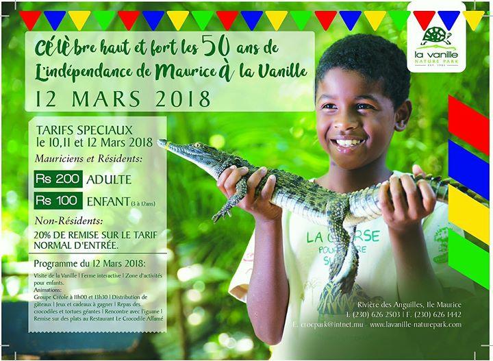 Fête de L'Indépendance à La Vanille Nature Park