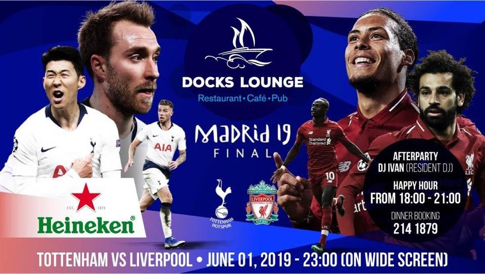 Final Champions League at Docks Lounge