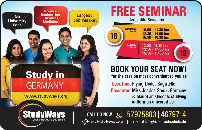 Free Seminar on Study Options in Germany!