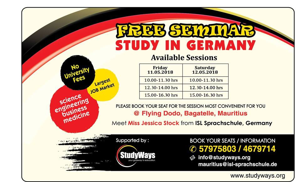 Free Seminar - Study in Germany