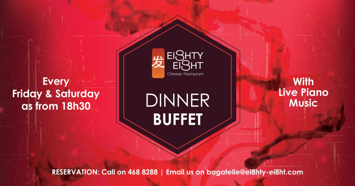 Open Dinner Buffet on Fridays & Saturdays at Eighty Eight