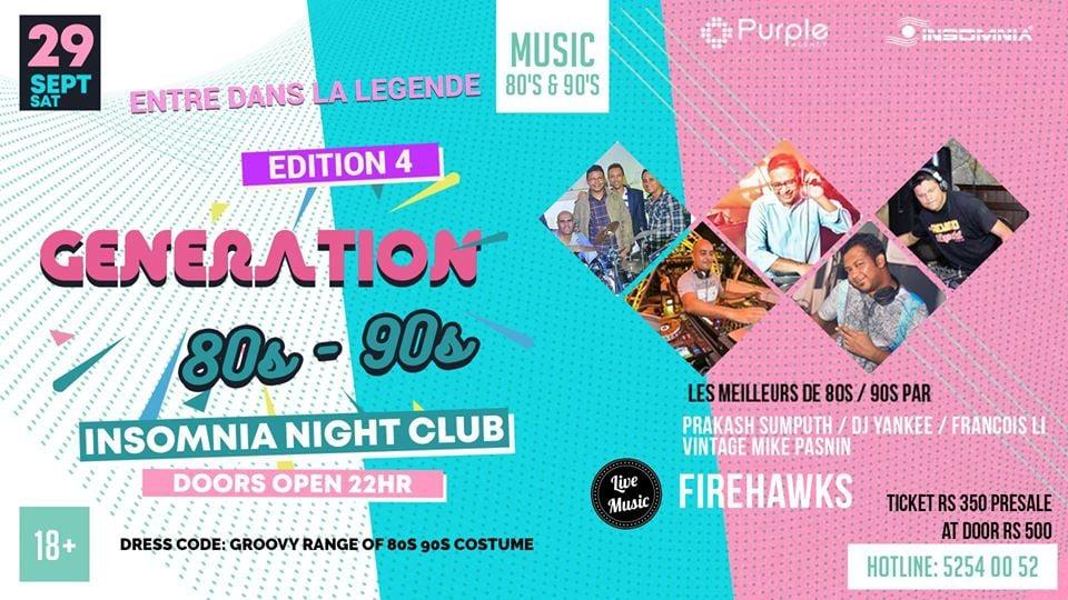 Generation 80/90 ●Edition 4 ● at Insomnia