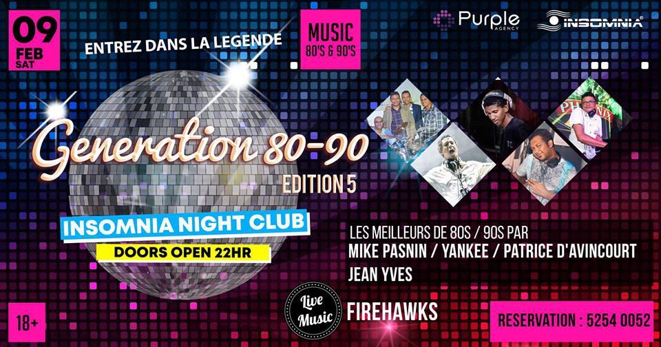 Génération 80/90 ★Edition 5★ at Insomnia Nightclub
