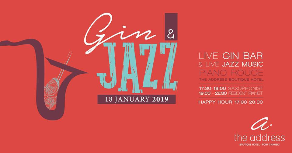 Gin & Jazz at The Address Boutique Hotel