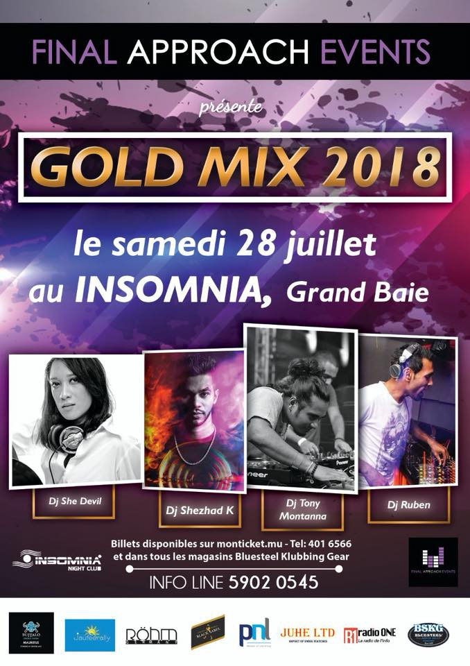 Gold Mix 2018 at Insomnia Nightclub | My Guide Mauritius