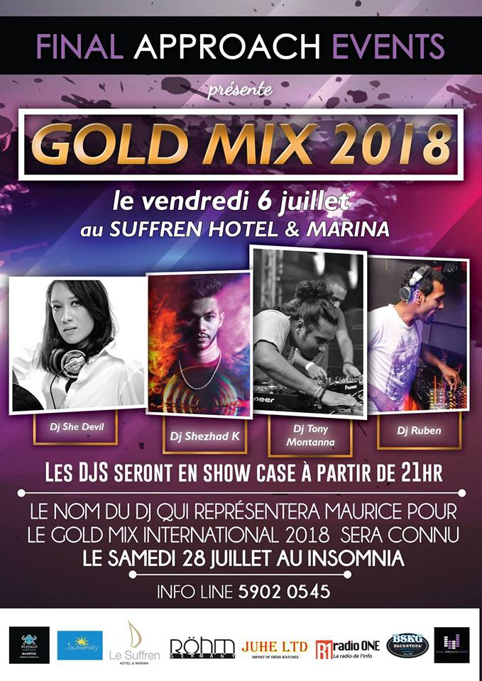 Gold Mix 2018 at Le Suffren Hotel and Marina