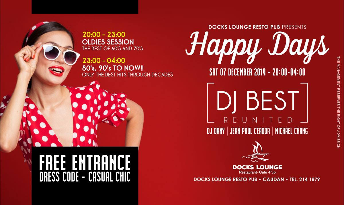 HAPPY DAYS :: 2in1 Party at Docks Lounge