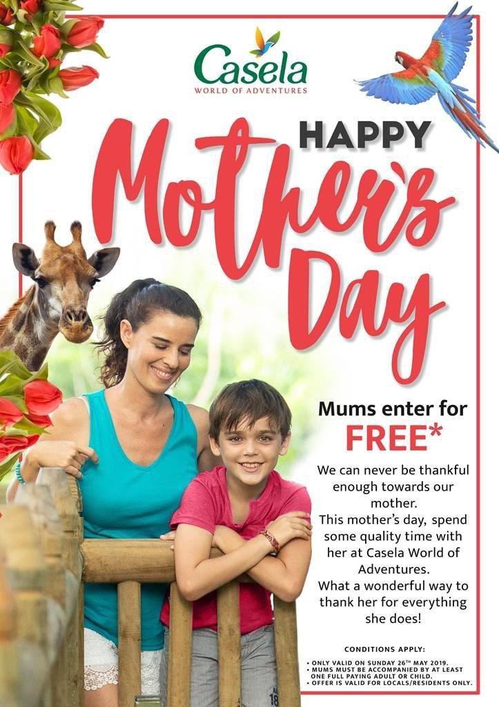 Happy Mother's Day at Casela World of Adventures