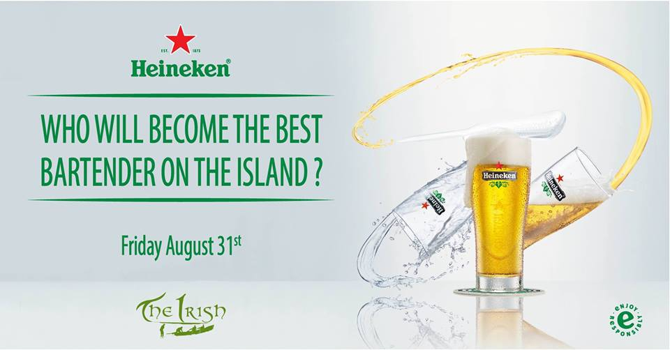 Heineken Star Serve Competition at The Irish