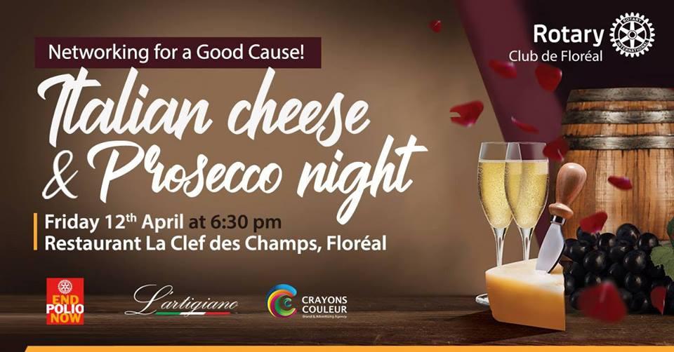 Italian Cheese & Prosecco Night at La Cle des Champs