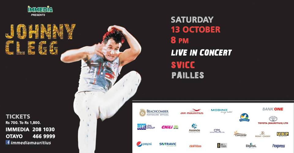 Johnny Clegg Live Concert in Mauritius