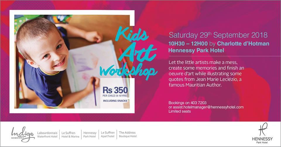 Kids Art Workshop at Hennessy Park Hotel