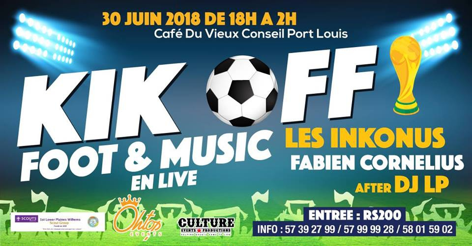 KIK OFF Foot & Music live