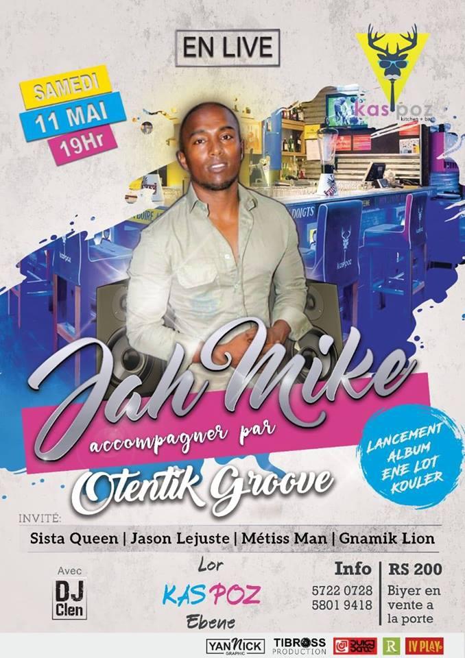 Launching of second solo album of Jahmike (Enn Lot Kouler)