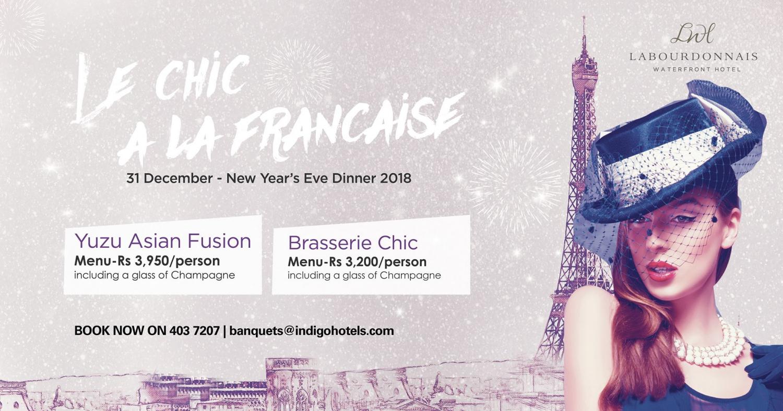 Le Chic à La Française at Labourdonnais Waterfront Hotel
