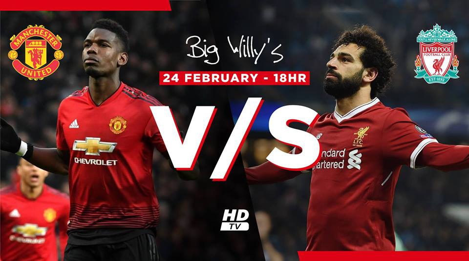 Manchester United v/s Liverpool Live at Big Willy's