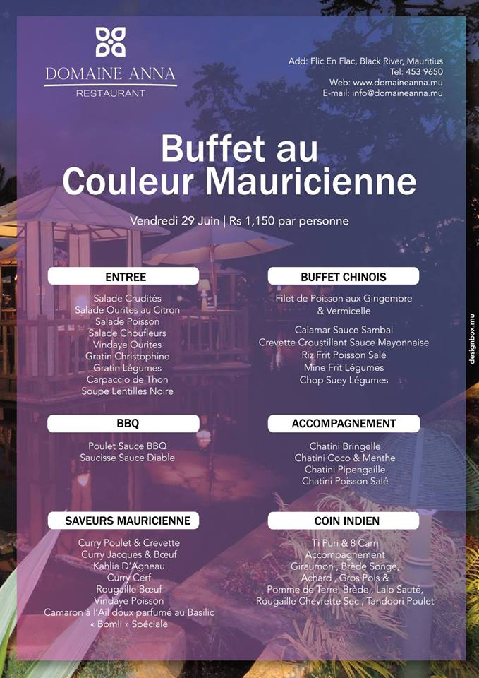 Mauritian Night at Domaine Anna Restaurant