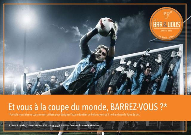 Mauritius World Cup (Big Screen) - Barrez-Vous?