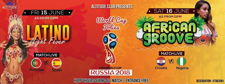 Mauritius WORLD CUP FOLIES 2018 AFRICAN GROOVE NIGHT