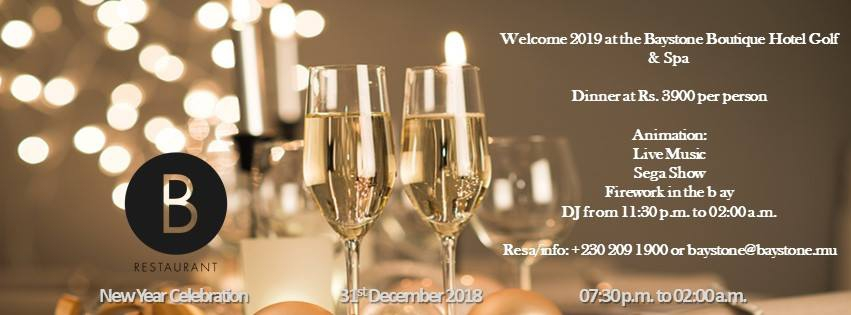 New Year 2019 Celebration at Baystone Boutique Hotel & Spa