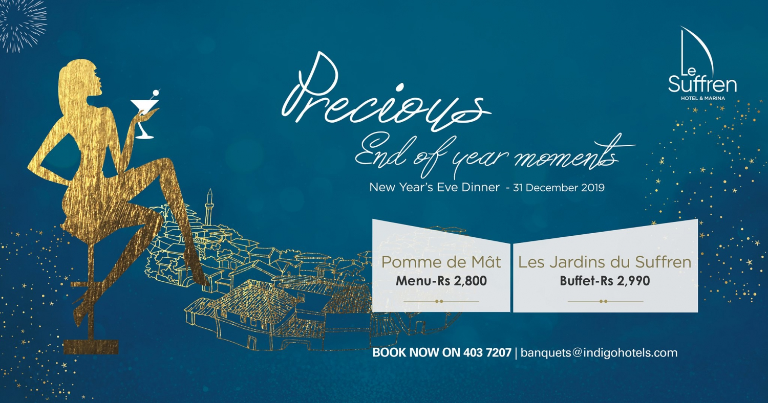 New Year's Eve Dinner at Le Suffren Hotel & Marina