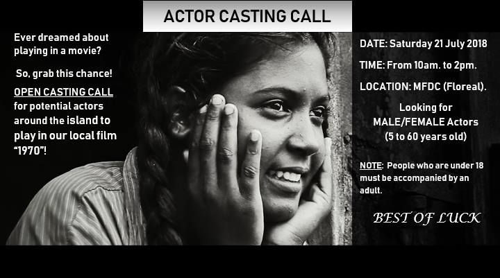 OPEN ACTOR Casting CALL