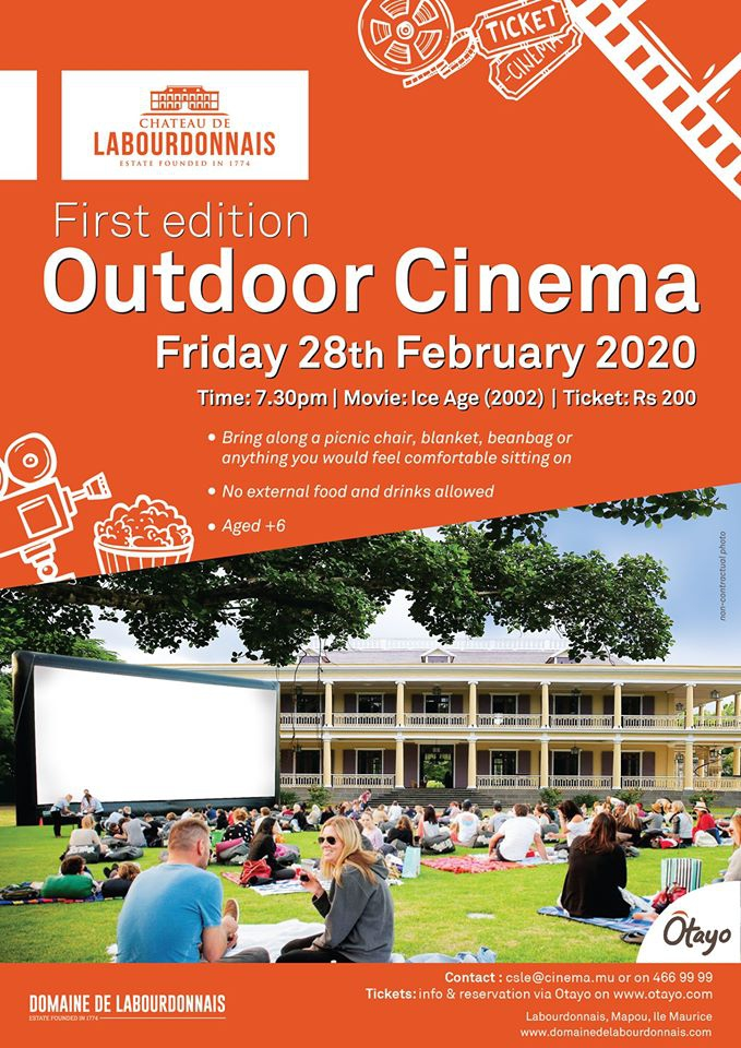 Outdoor Cinema at Domaine de Labourdonnais